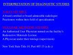 interpretation of diagnostic studies