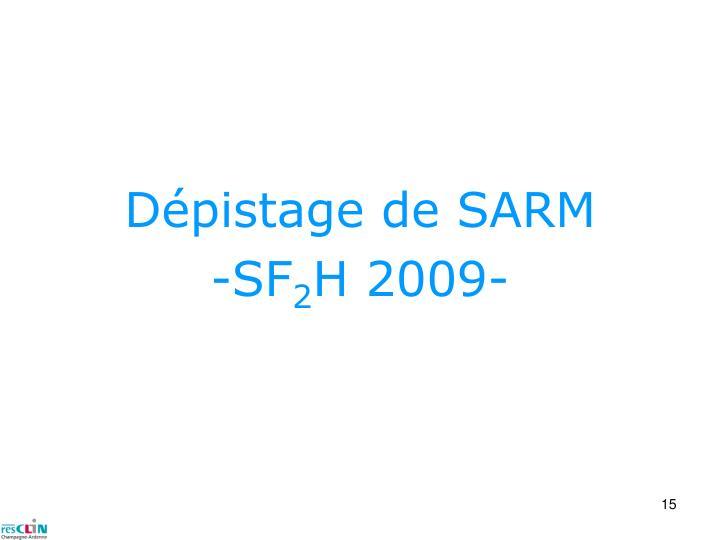 Dépistage de SARM