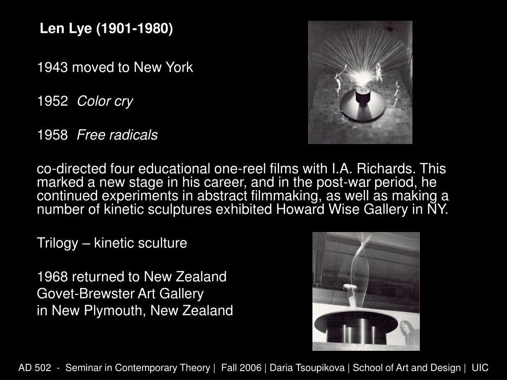 Len Lye (1901-1980)