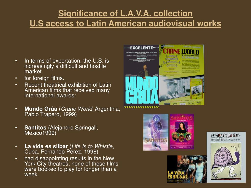 Significance of L.A.V.A. collection