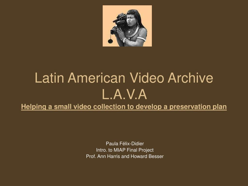 Latin American Video Archive L.A.V.A