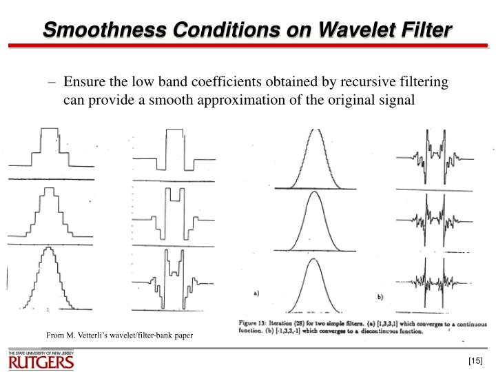 Smoothness Conditions on Wavelet Filter