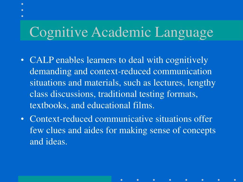 Cognitive Academic Language