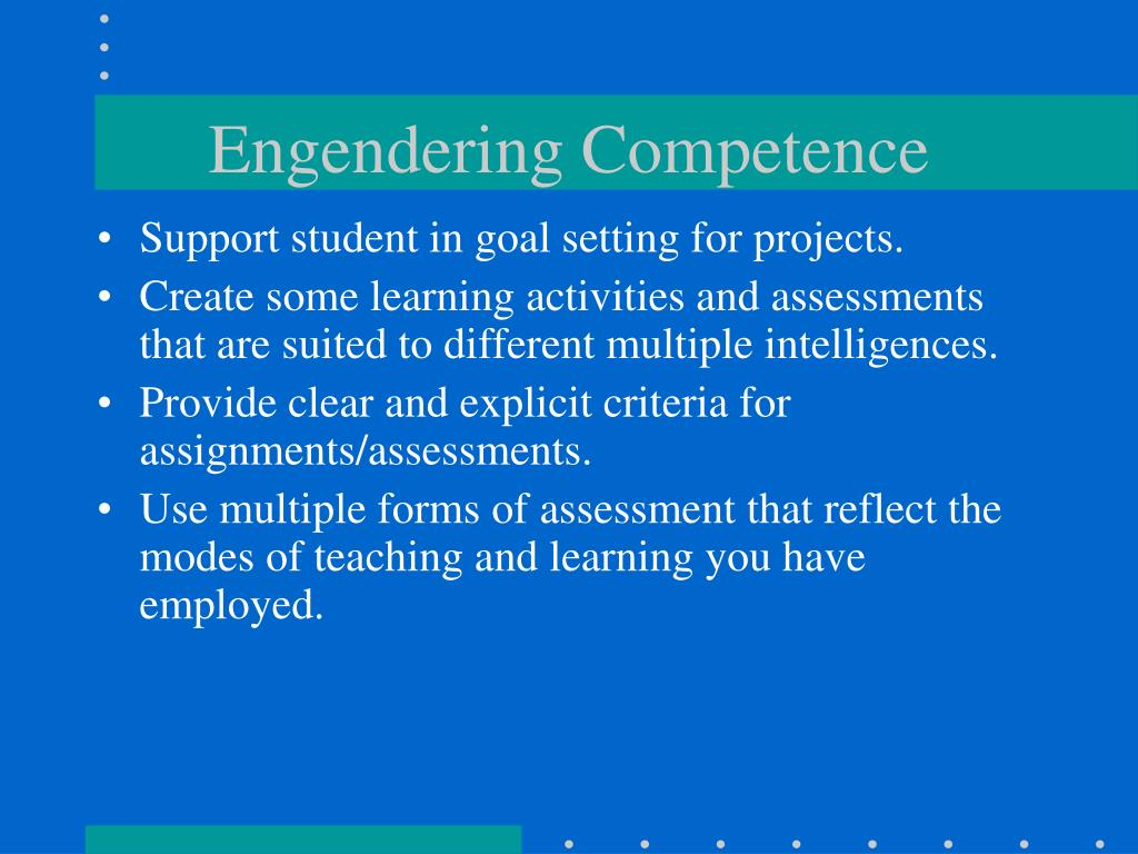 Engendering Competence