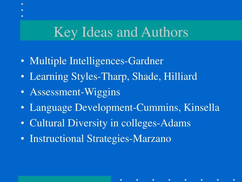 Key Ideas and Authors