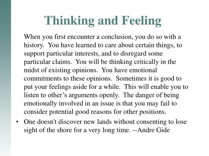 Thinking and Feeling