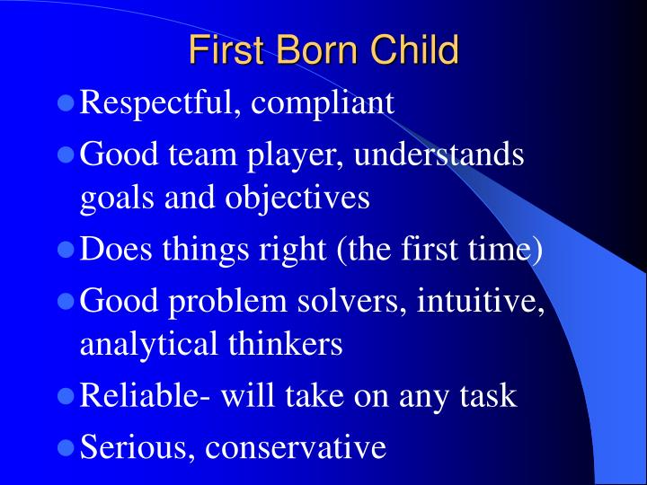 First Born Child