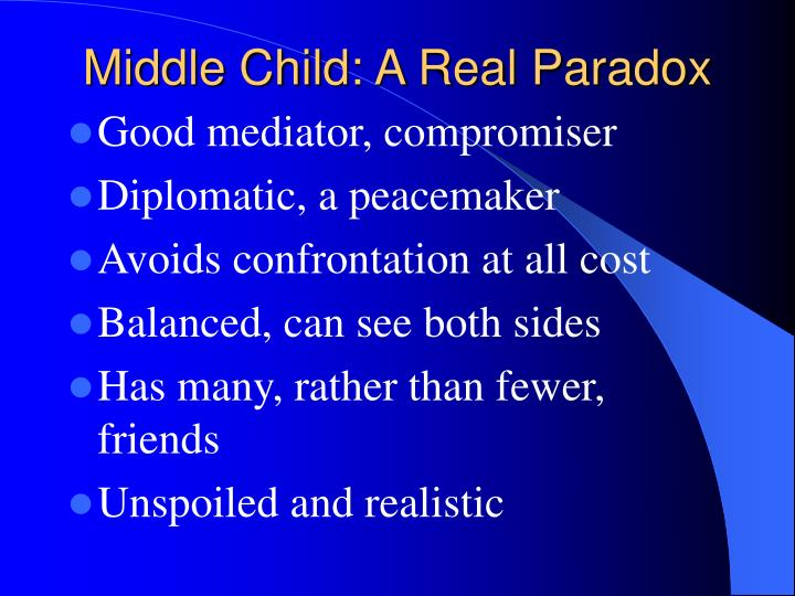 Middle Child: A Real Paradox