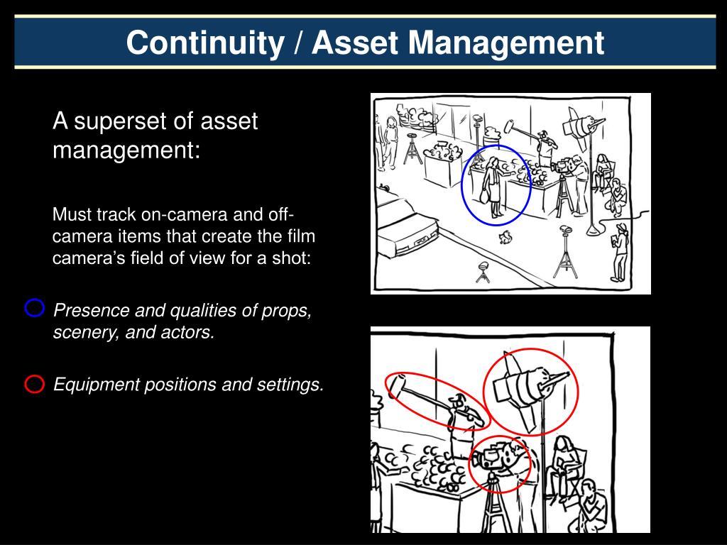 Continuity / Asset Management