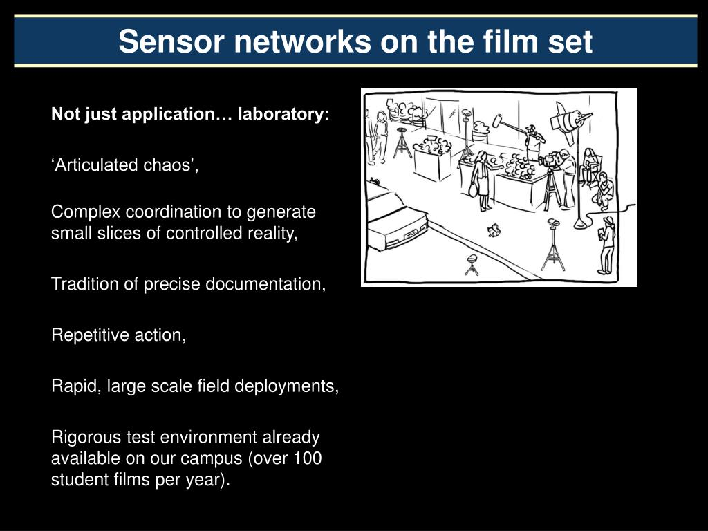 Sensor networks on the film set