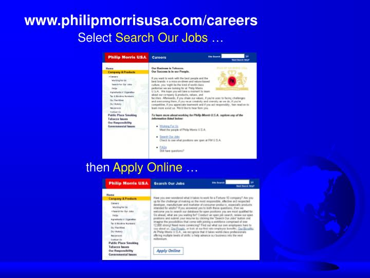 www.philipmorrisusa.com/careers
