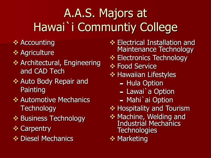 A.A.S. Majors at