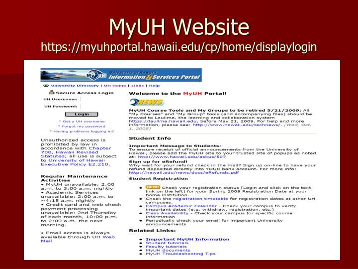 MyUH Website