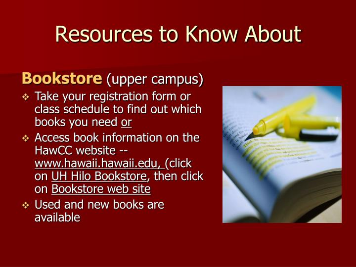 Resources to Know About