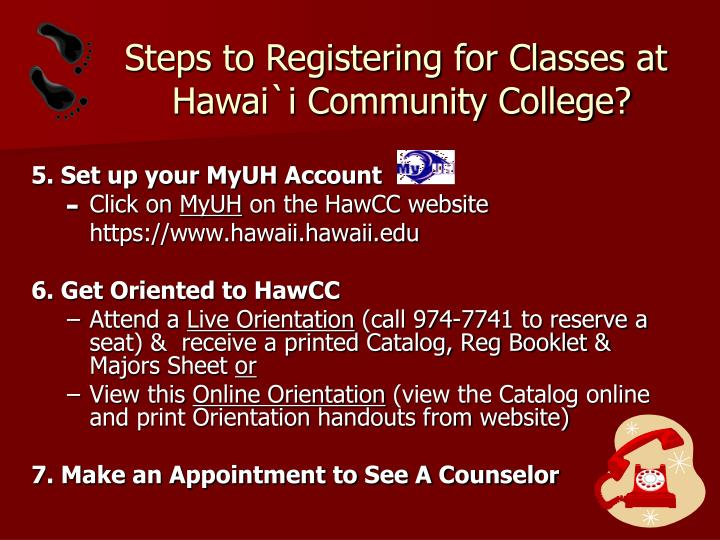 Steps to Registering for Classes at