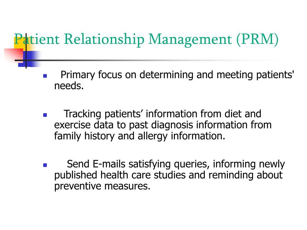 Patient Relationship Management (PRM)