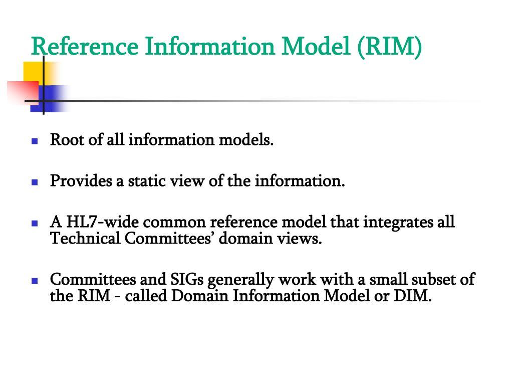 Reference Information Model (RIM)