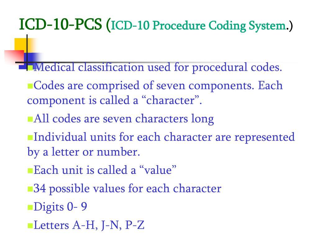 ICD-10-PCS (