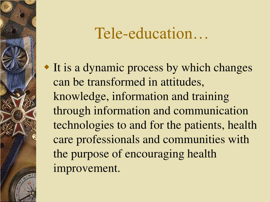Tele-education…