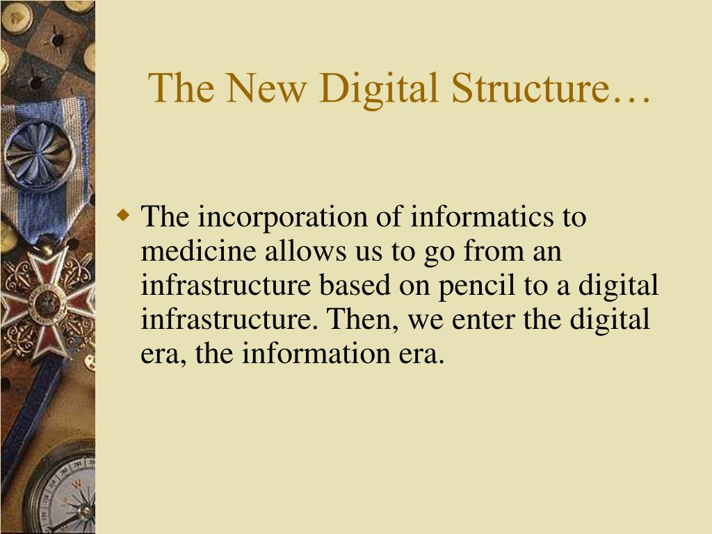 The New Digital Structure…