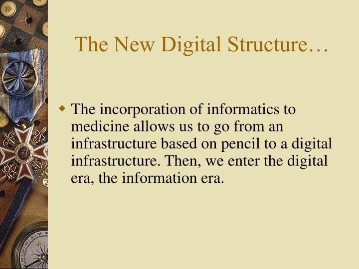 The new digital structure