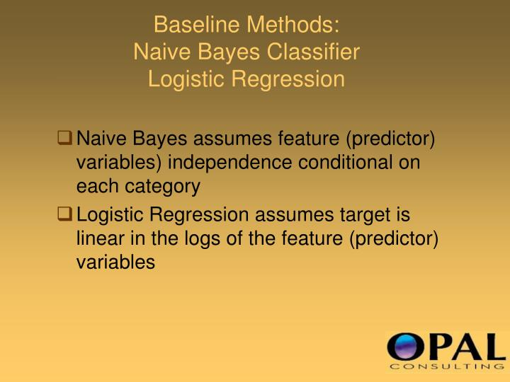 Baseline Methods: