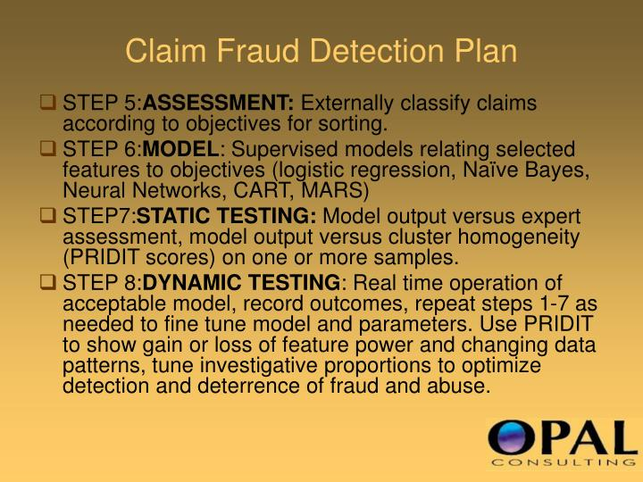 Claim Fraud Detection Plan