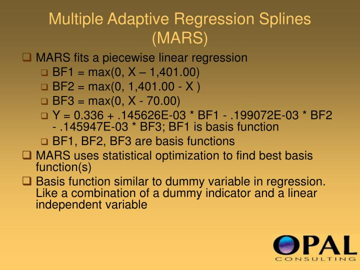 Multiple Adaptive Regression Splines (MARS)