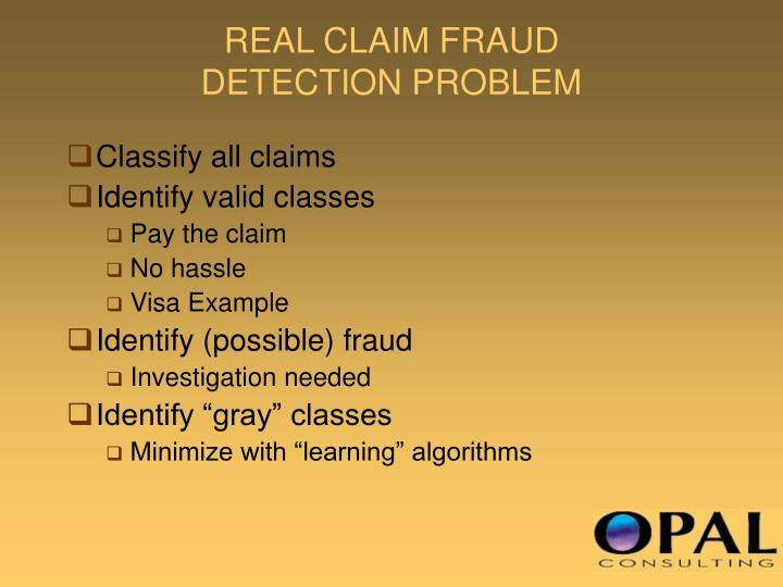 REAL CLAIM FRAUD