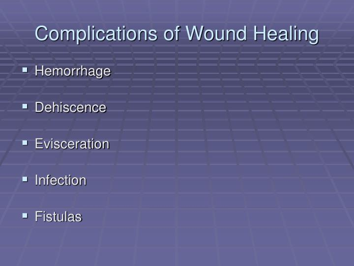 Complications of Wound Healing