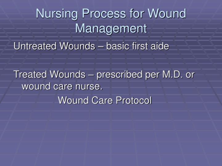 Nursing Process for Wound Management