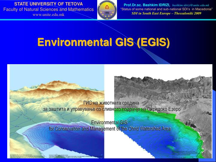 Environmental GIS (EGIS)