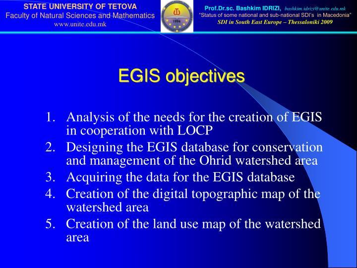 EGIS objectives