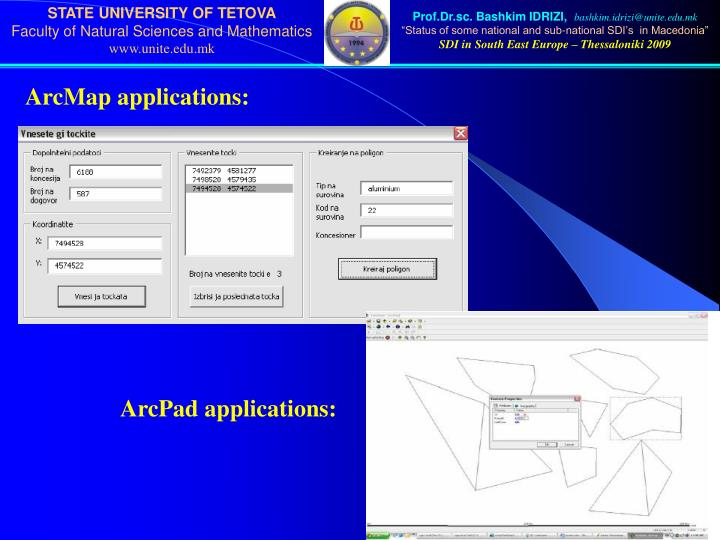 ArcMap applications: