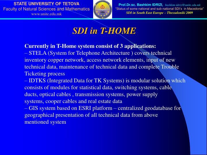 SDI in T-HOME