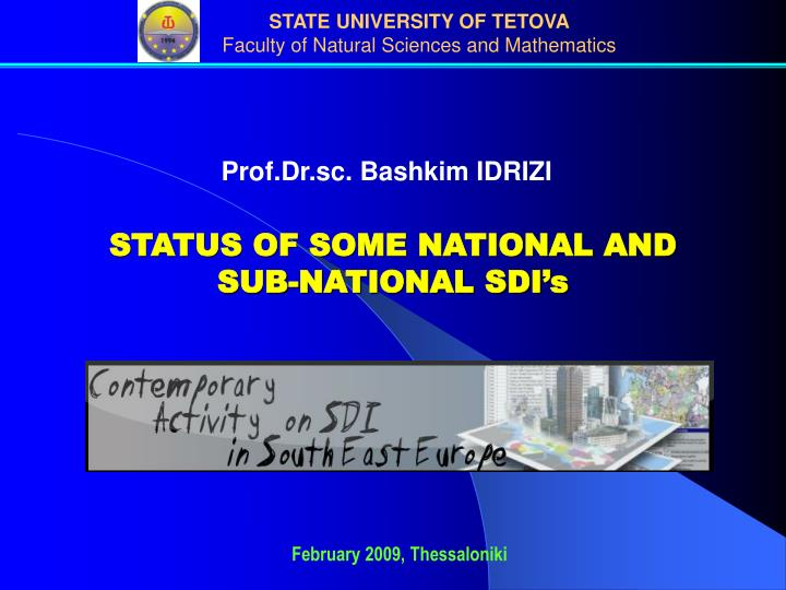 Prof.Dr.sc. Bashkim IDRIZI