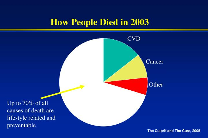 How People Died in 2003