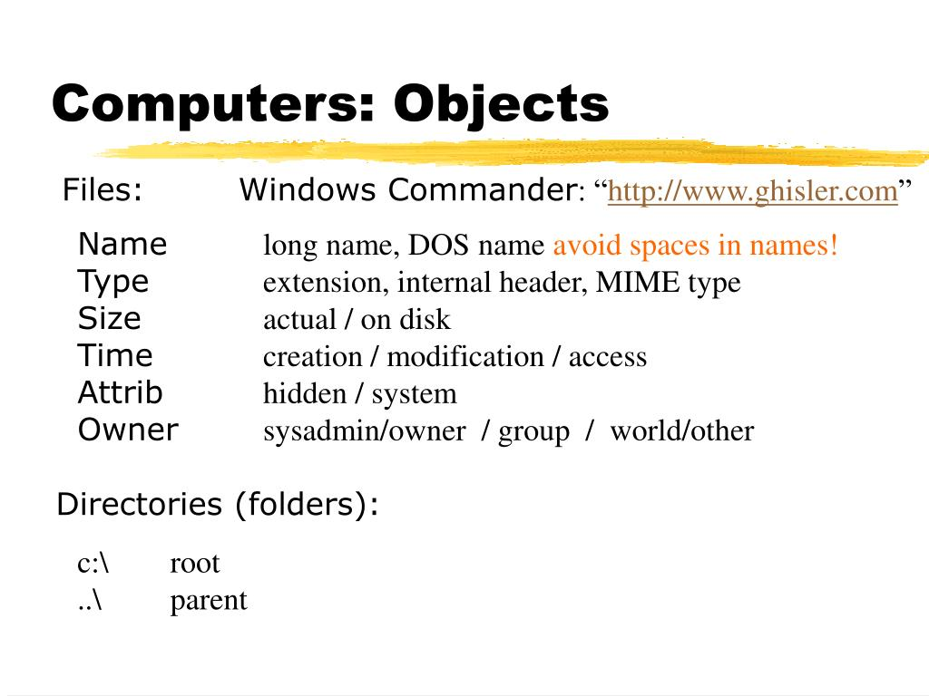 Computers: Objects