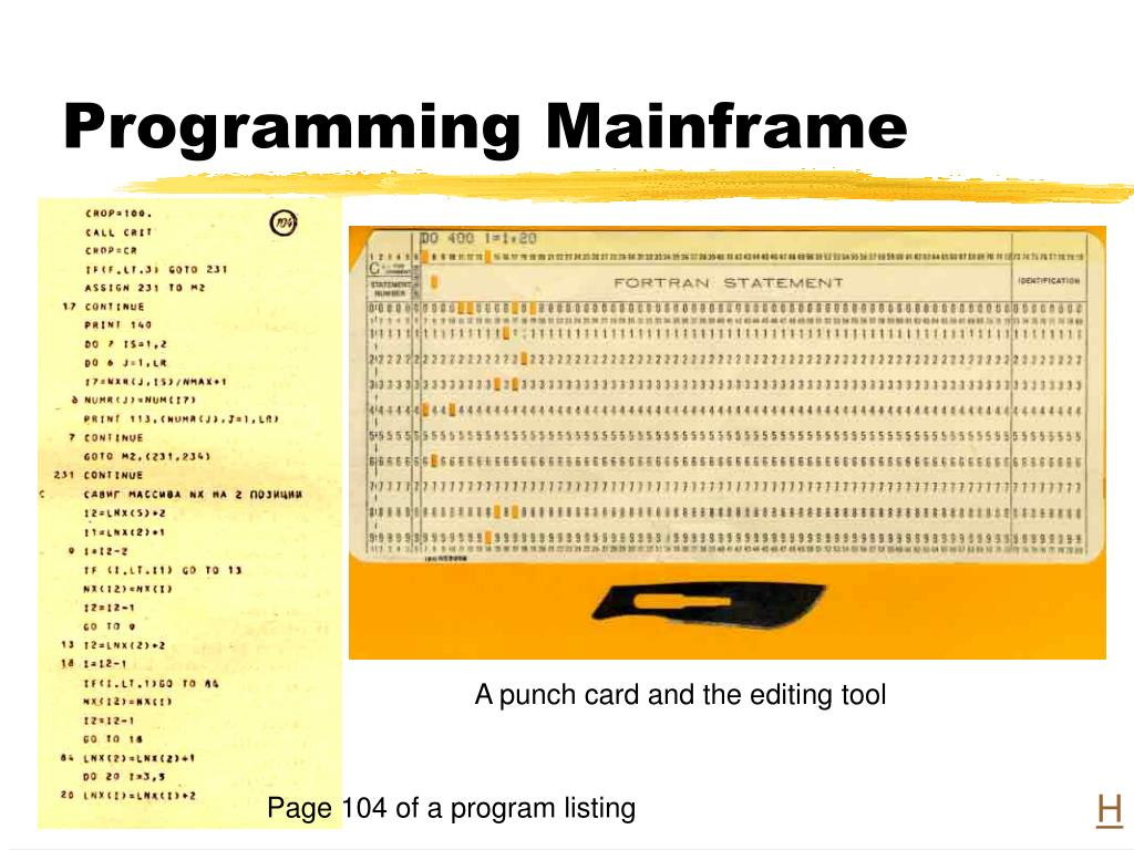 Programming Mainframe