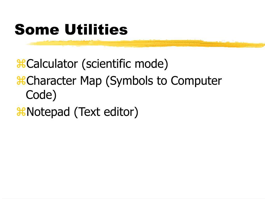 Some Utilities