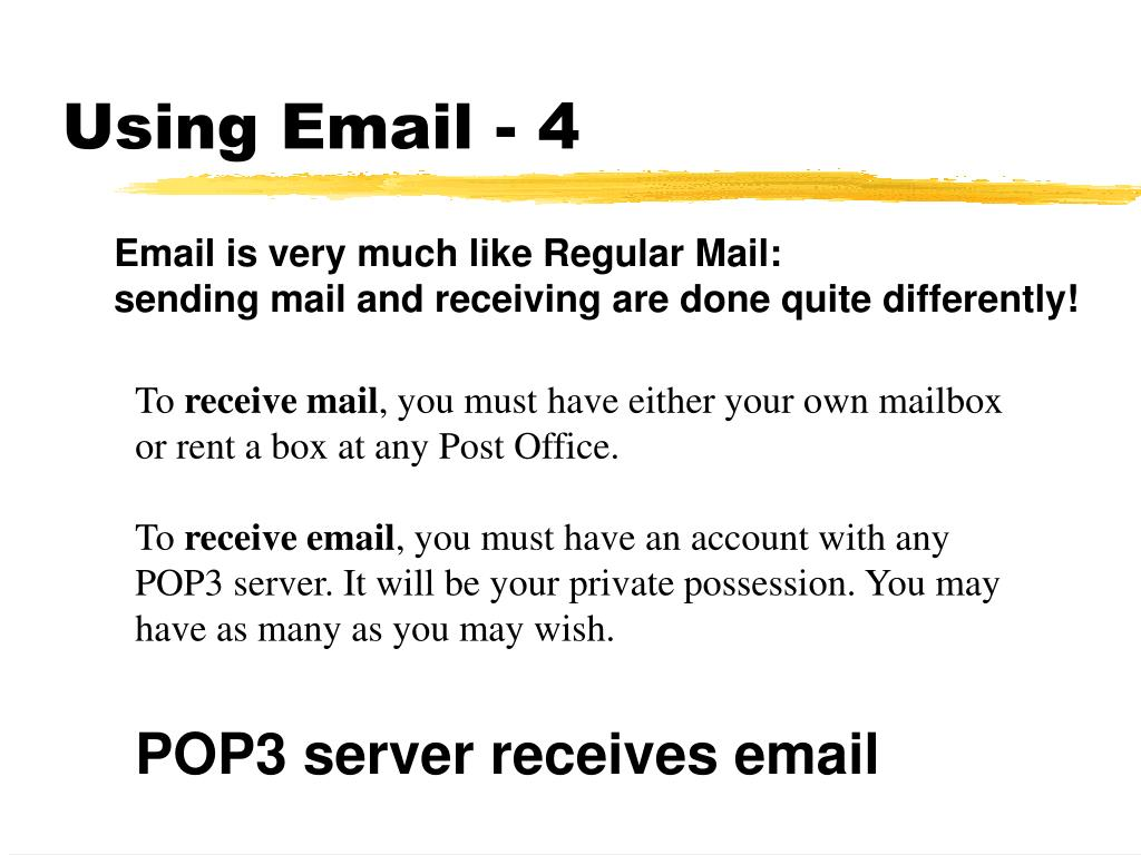 Using Email - 4