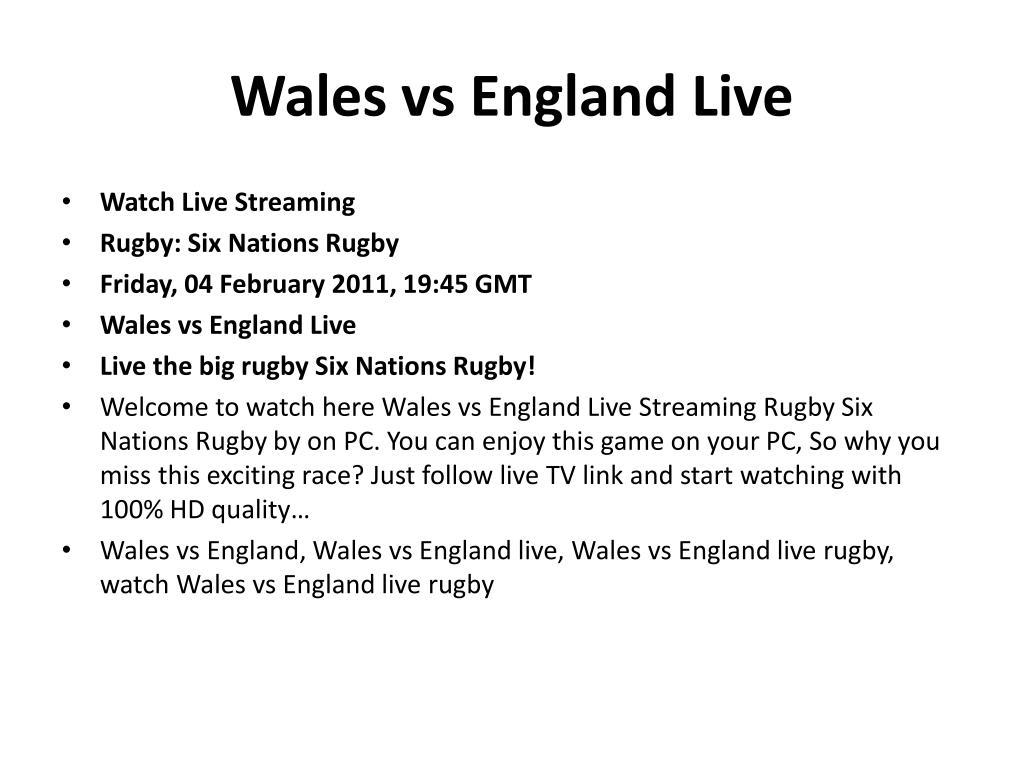 Wales vs England Live