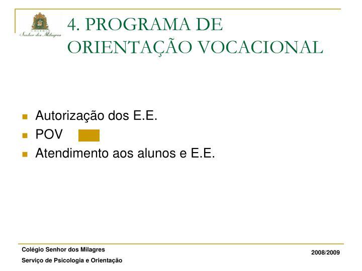 Autorização dos E.E.