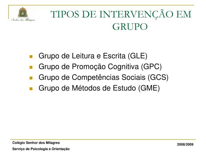 Grupo de Leitura e Escrita (GLE)