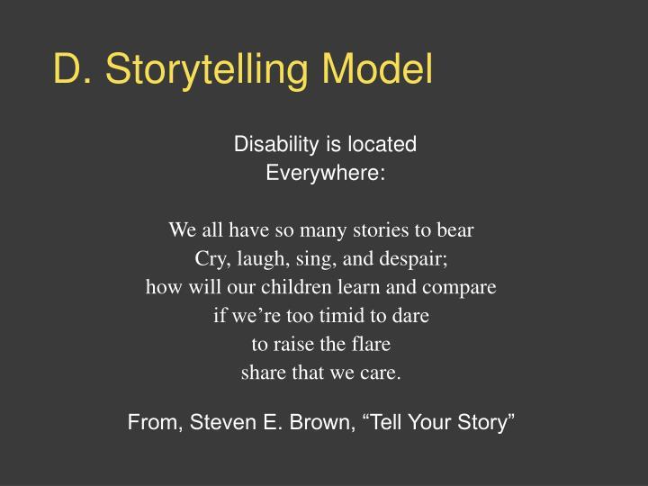 D. Storytelling Model