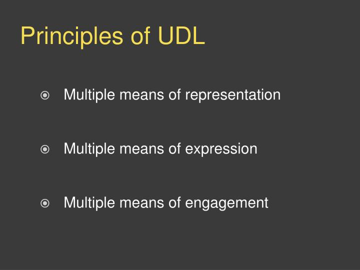 Principles of UDL