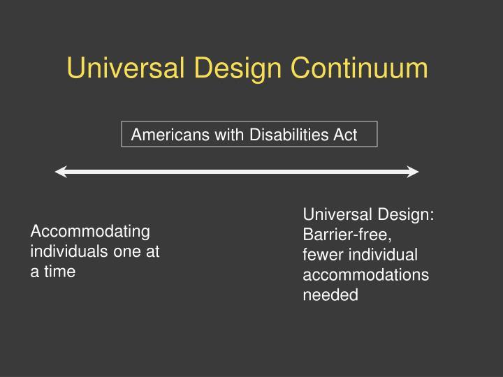Universal Design Continuum