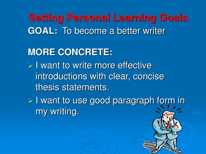 Setting Personal Learning Goals