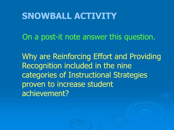 SNOWBALL ACTIVITY