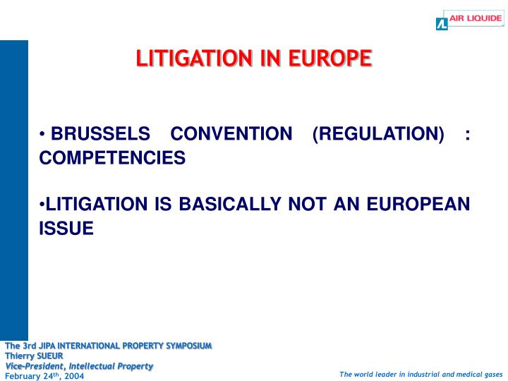 Litigation in europe